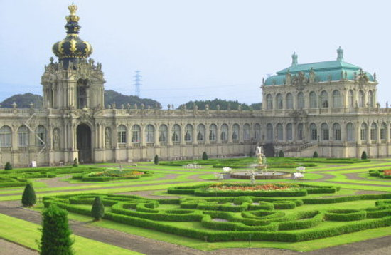 "Arita-cho, Nhật Bản: The ""Zwinger Palace"" replica with garden"