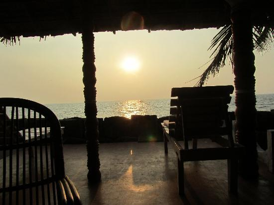 Cherai Beach, Indien: View from Restaurant