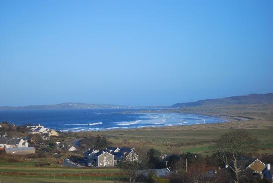 Ballyliffin, Ierland: View from the room window