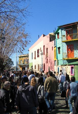 Buenos Aires, Argentinien: Caminito (Famous street with permanet handicraft fair)