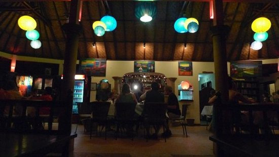 Komang John's Cafe: it of a blurry photo, but it captures the ambiance