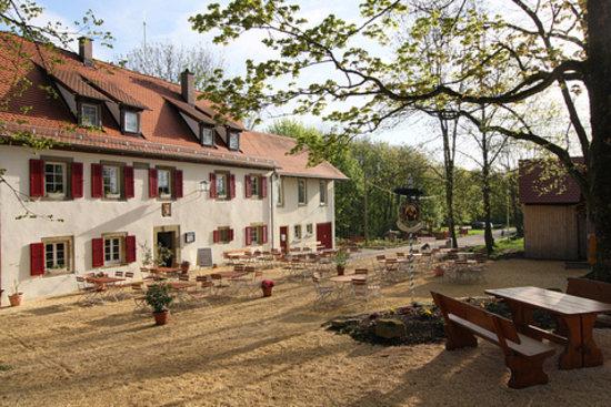 Schwäbisch Hall, Alemania: Frontansicht der Restaurants