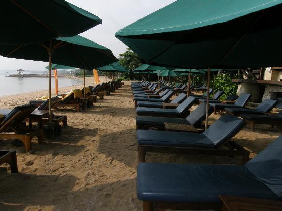 Novotel Bali Benoa: Tumbonas playa hotel