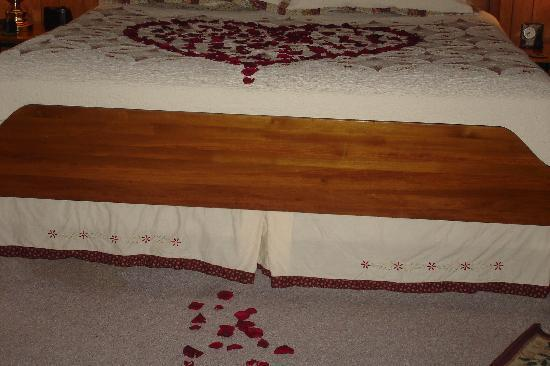 Gaines Landing Bed and Breakfast: Rose petals leading us into the room