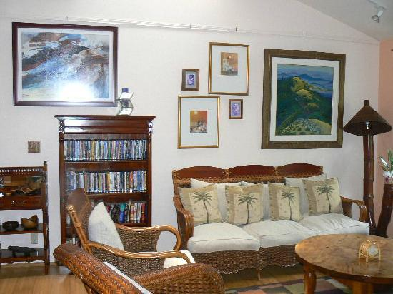 Art and Orchids: Another View of the Living Room