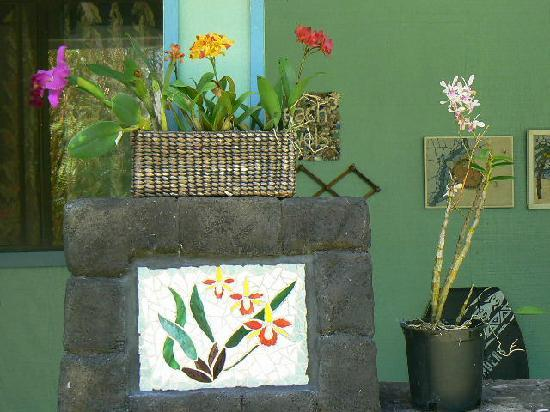 Art and Orchids: Orchid Mosaic and Orchids