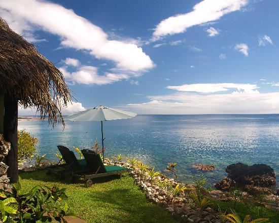 Paradise Taveuni: Lounges by the massage bure