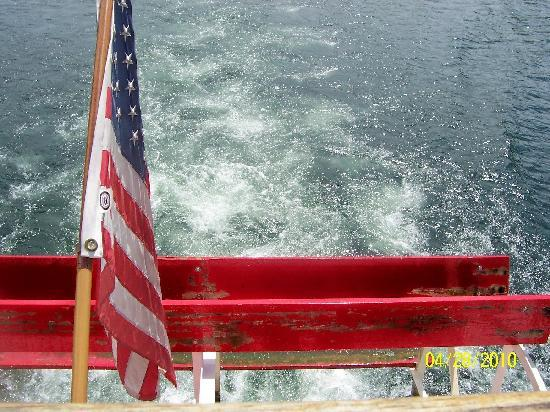 The Lake Queen: the big paddle wheel