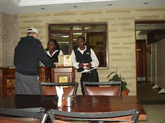 Hotel Kipepeo: energetic staffs
