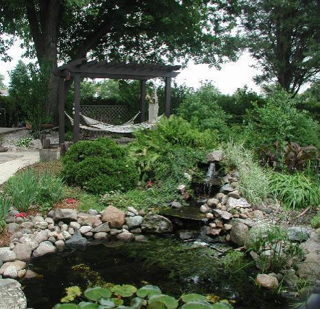 Garden Manor Bed & Breakfast : The backyard oasis of Garden Manor B & B