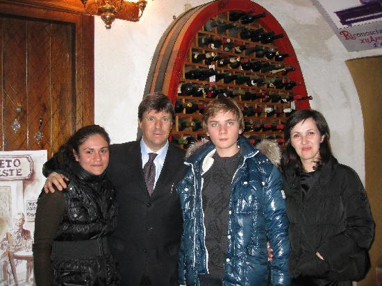 Ristorante 12 Apostoli: We and Antonio
