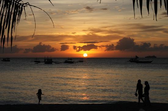 sunset @ white beach