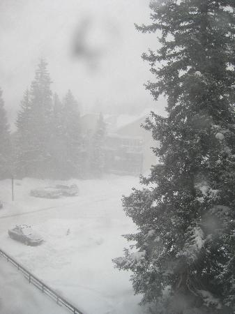 Iron Horse Resort: View from our window during storm