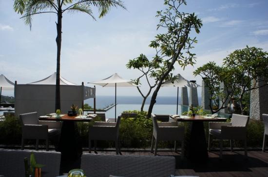 Banyan Tree Ungasan, Bali: Frühstücksausblick
