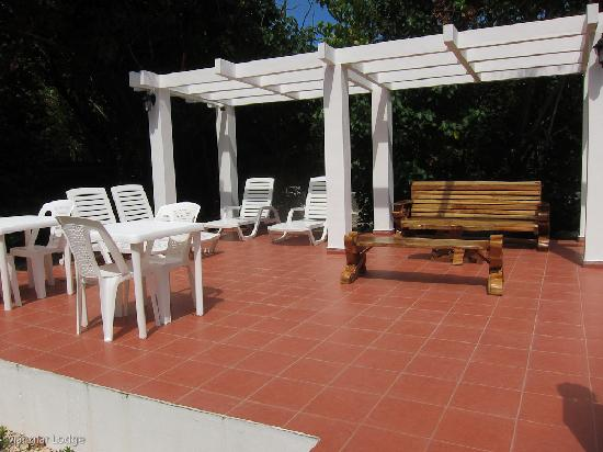 manglar lodge lounge terrace and gardens where you can relax on the sun, read and watch birds an
