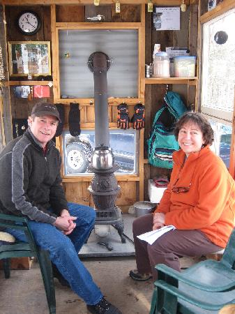 Beech Hill X-Country Ski & Snowshoe Center: The welcome hut.