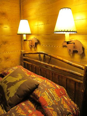 The Campsites at Disney's Fort Wilderness Resort: Bed and Lamp