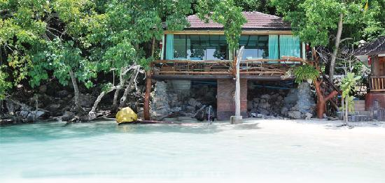 Phi Phi Popular Beach Resort: From The water looking at the Bungalows