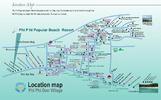 Phi Phi Popular Beach Resort: Map of Phi Phi