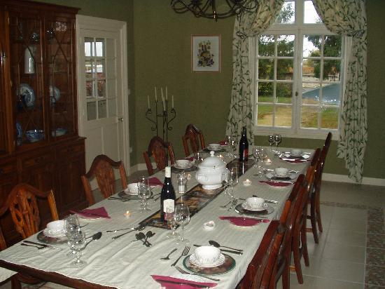 St Georges B&B : Table d'hotes