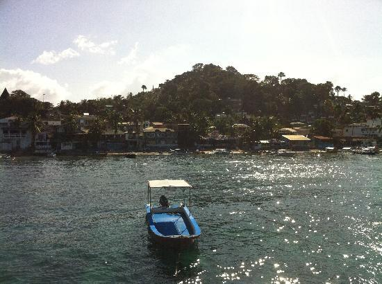 Sabang Oasis Resort: View of Sabang from the Floating Bar
