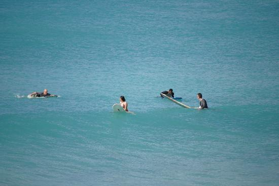 Barbados Surf Trips: Us waiting for waves at Freights