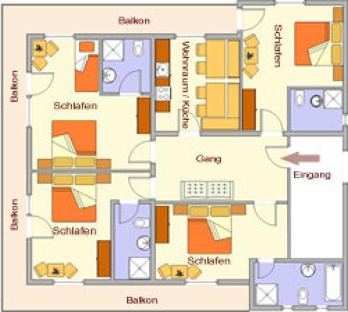 Haus Sonja: Appartement 8-10 Personen