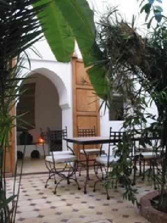 Riad Johana: patio de la maison