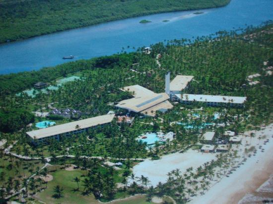 Ilha de Comandatuba, BA: hotel view from airplane