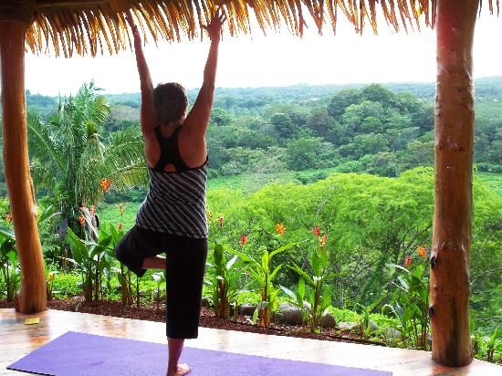 Costa Rica Yoga Spa: Yoga in Yoga Pavilion