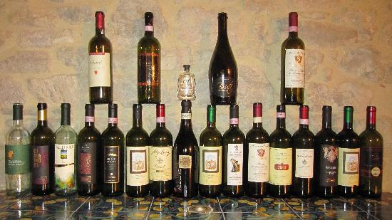Podere Lucignano Secondo Agriturismo: We were there for food and wine- clearly:)