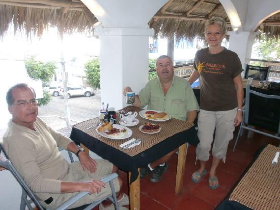 Colleen's Breakfast: Us enjoying breakfast with Coleen