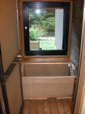 Osawa Onsen Sansuikaku: nice hinoki bath in the room