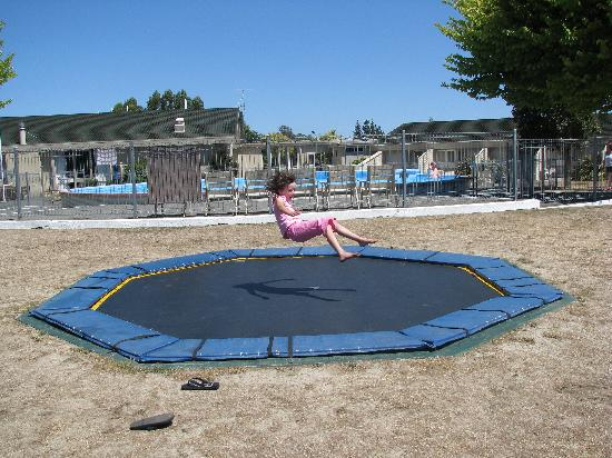 Copthorne Hotel & Resort Solway Park, Wairarapa : The kids loved the trampoline dug in to the ground