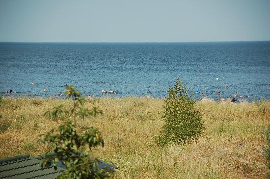Karlshagen, Tyskland: Blick vom Zimmer aus auf die Ostsee