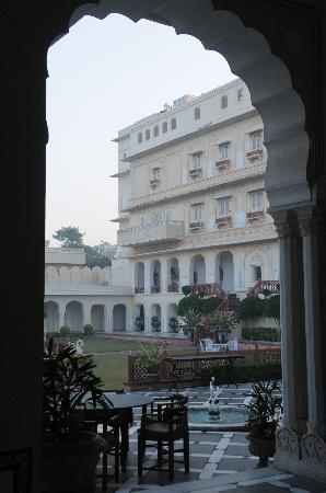 The Raj Palace Grand Heritage Hotel: main yard