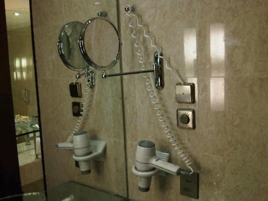 Sheraton Hong Kong Hotel & Towers: hair dryer mirror @ hArbor view suite 1002