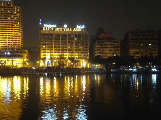 Shepheard Hotel: view of hotel from across Nile