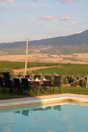 Agriturismo Il Poggione: dinner by the swimming pool