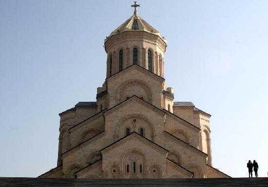 Tbilisi, Georgia: Tsminda Sameba Katedrali