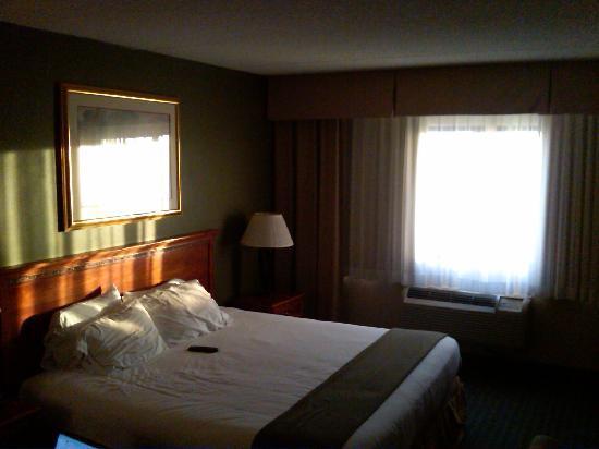 Holiday Inn Express Hauppauge: Room at sunset