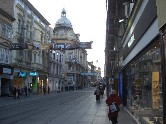 Zagreb, Croatie : Einkaufsstraße
