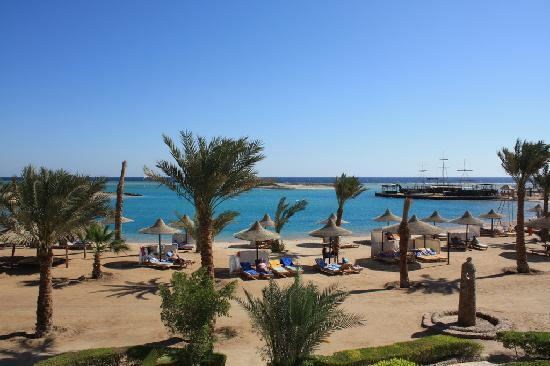 Club Azur Resort: plage de l'hôtel du club azur