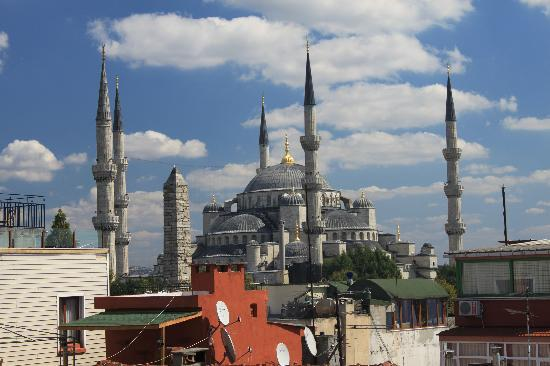 Ferman Sultan Hotel: Blue Mosque from the roof of Blue Hills