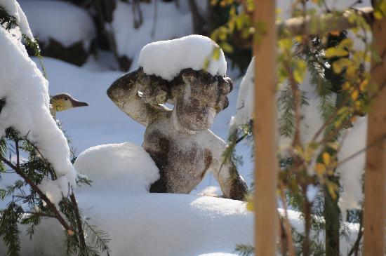 Im Röseligarten: 2. Bild vom verschneiten Garten