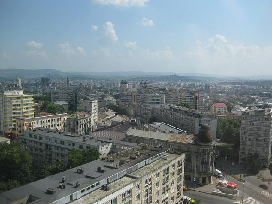 Unirea Hotel & SPA: View of Iasi from my room in Hotel Unirea.
