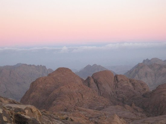 Mount Sinai: Beautiful light that kept changing quickly