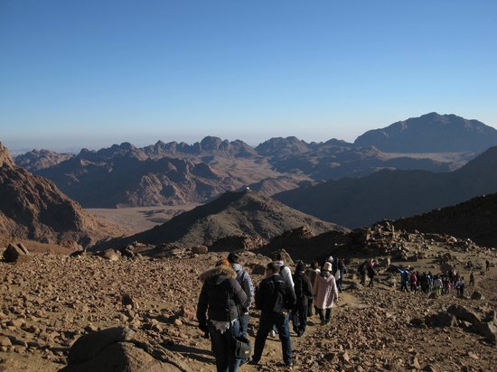 Mount Sinai: Hard to believe we walked all that way in the dark