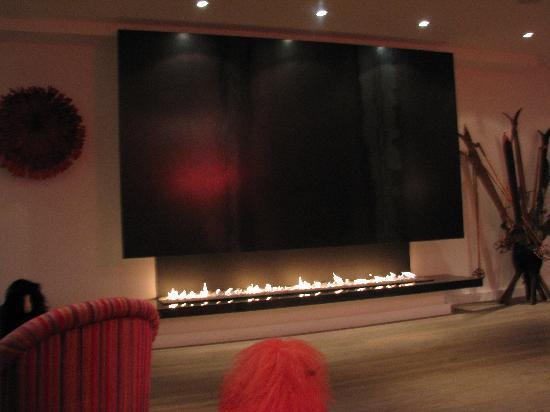 Hotel Ormelune: fireplace