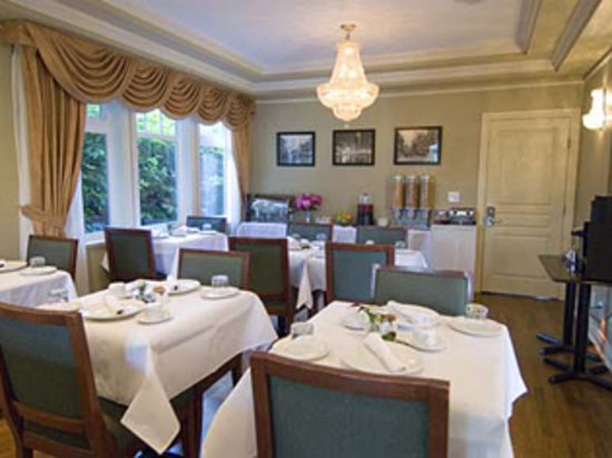 Granville House B&B: Vancouver's largest B&B Dining Area w/6 individual tables